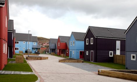 Grodians, part of the final phase of Quoys, the largest scheme completed by Hjaltland Housing Association. Pic. Billy Fox