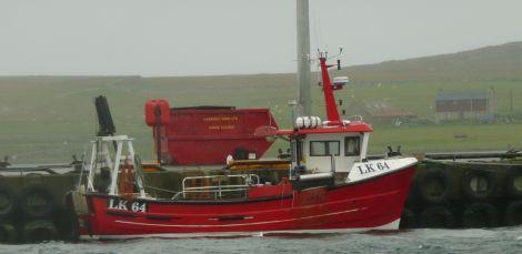 Karl Anderson's boat Kathleen at Baltasound pier