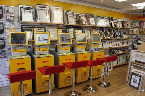 Create your picture products using one of the five state-of-the-art Kodak Kiosks with staff on hand to assist.