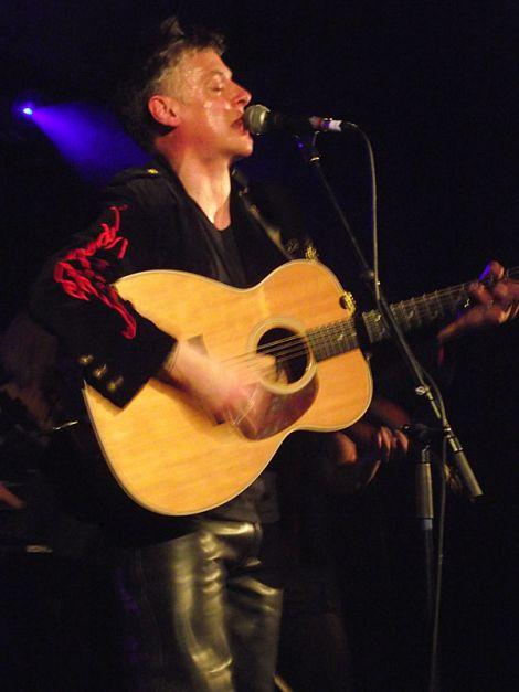 Paul Johnston during Friday night's birthday concert.