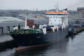 NorthLink cargo vessel Helliar at Aberdeen's Blaikie's Quay