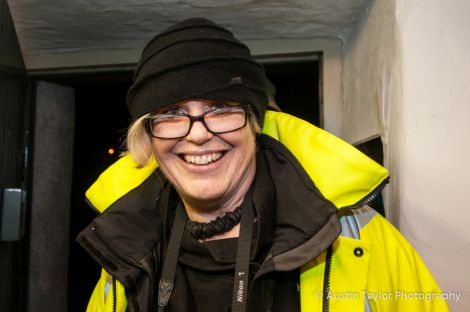 Visual artists Roxane Permar who created the installation. Pic. Austin Taylor