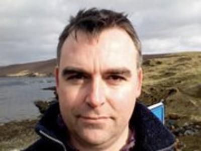 Shetland Arts director Gwilym Gibbons