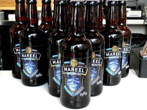 Sonny Priest's first consignment of Mareel Ale. Pic. Craig Birnie