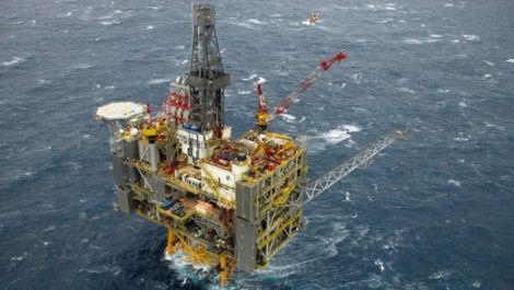 One of the two new Clair Ridge platforms west of Shetland. Pic. BP plc