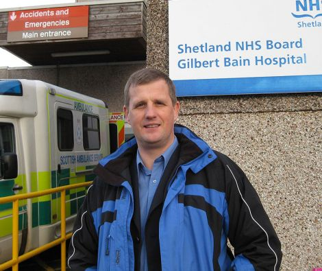 NHS Shetland chief executive Ralph Roberts.