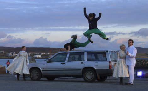 Parkour meets ballroom dancing and a Volvo. Photo Olivia Abbott