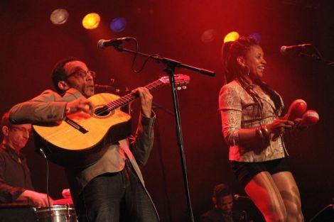 Son Yambu's tropical tempo got the jam-packed Clickimin really gyrating. Photo Davie Gardner