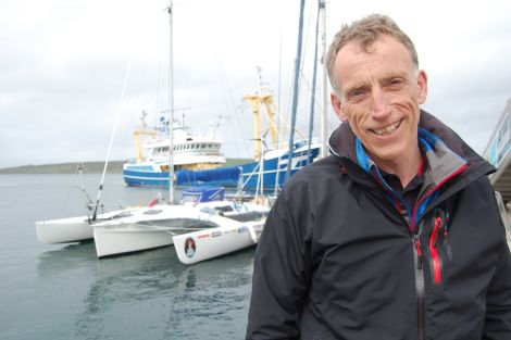 Alan Rankin is taking his extended stay in Lerwick in his stride. Photo ShetNews