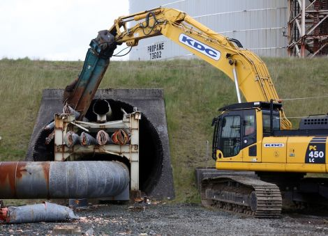 Old pipework is already being demolished as part of the refurbishment. Photo BP