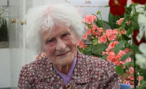 Ruby Lindsay preparing for her 105th birthday. Photo Shetnews