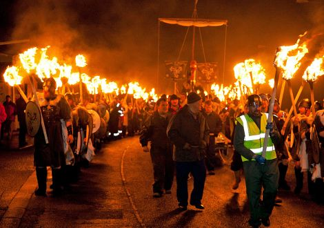 Up Helly Aa - one Shetland tradition where there are definitely more men than women