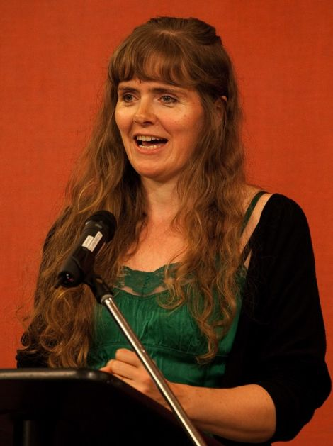 Lise Sinclair at the Shetland book festival Wordplay in 2011.