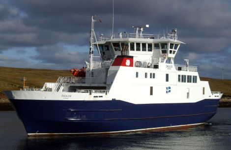 Dagalien is the only ferry operating on Yell Sound on Wednesday as a result of staff shortages