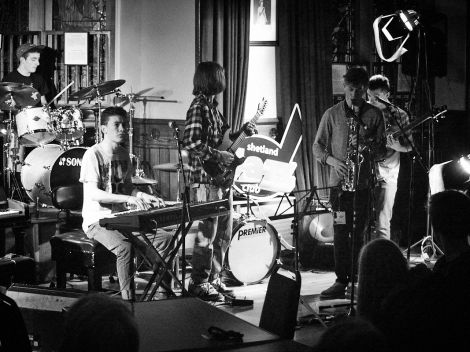Troppo Funk in Lerwick Town Hall during this year's jazz festival - Photo: Chris Brown