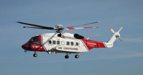 Shetland coastguard helicopter Rescue 102 has been on site all day searching for the missing man, refuelling twice during the day.