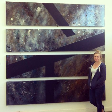 Vivian Ross-Smith (23) from Lerwick has had her prizewinning piece of art Plutonic installed in WestPoint House.