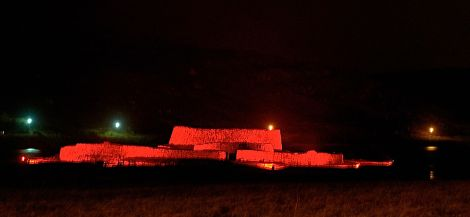 The Clickimin Broch was also illuminated - Photo: Chris Brown