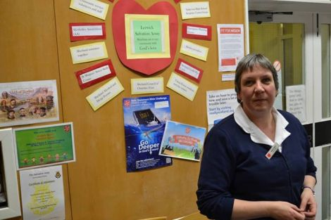 Angela Nunn of the Salvation Army's Lerwick branch.