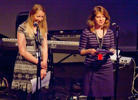 Alice Mullay and Emma Perring at last month's Back from Beyond launch concert at Mareel.