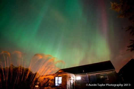 A photo of the aurora borealis taken by local photographer Austin Taylor on 9 October last year.