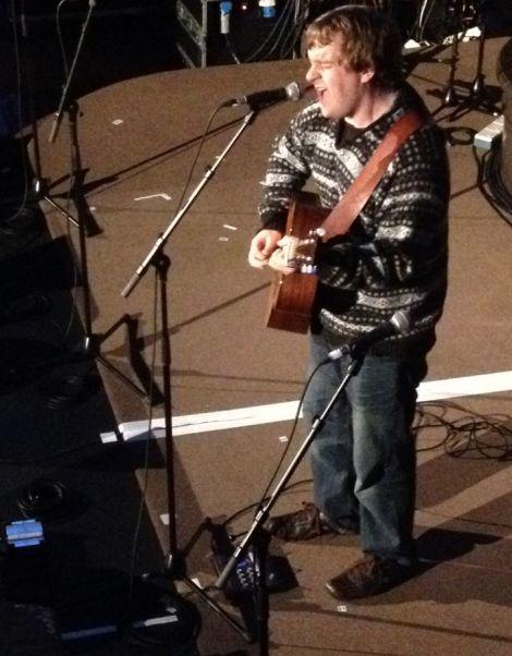 Arthur Nicholson on stage at Adelaide's. Photo Neil Riddell/Shetnews