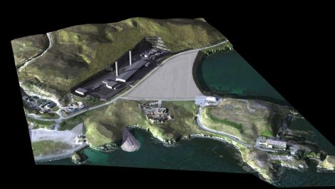 An image of the new Rova Head power station proposed by SHEPD last year.