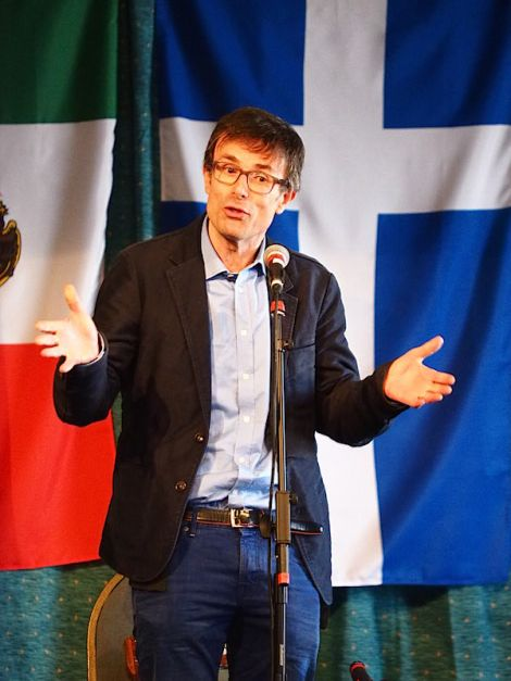 The festival was opened by BBC News business editor Robert Peston who was in Shetland to report on the independence debate - Photo: Chris Brown