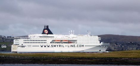 The Norröna on one of its increasingly rare visits to Lerwick, as part of a mini cruise, in 2012. Photo: John Bateson
