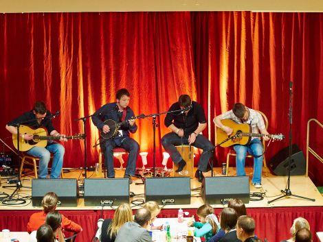 Shetland's own boyband Vair. Photo: Chris Brown