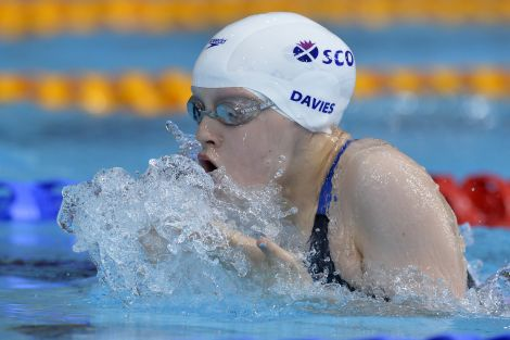Erraid in action in the Toll Cross International Swimming centre on Sunday. Photo Ian MacNicol