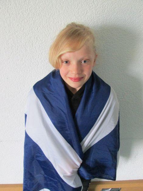 Erraid after winning her first Scottish cap last year. Photo Lorraine Gifford