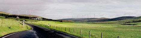 A view of the proposed Viking Energy wind farm from the Kergord valley - Image: Viking Energy.