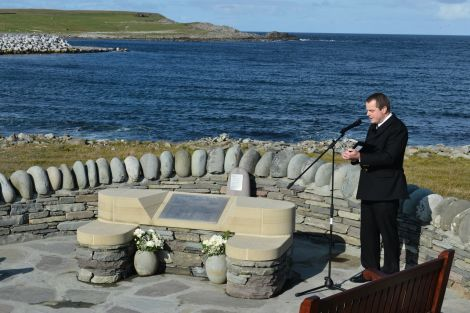 The service was conducted by Fishermen's Mission superintendent Aubrey Jamieson. Photo: Malcolm Younger