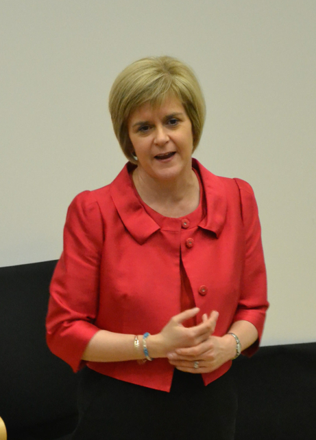 Deputy first minister Nicola Sturgeon had a rapturous reception after the BBC debate. Photo Shetnews