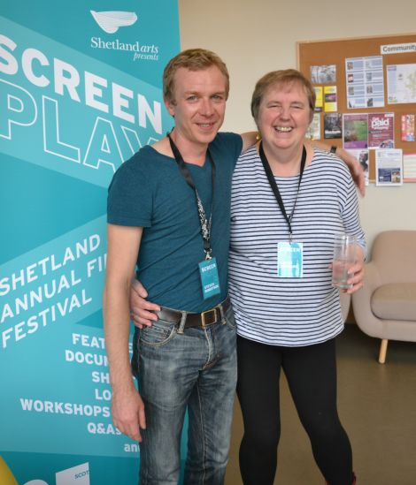 Actor Steven Robertson with Screenplay's Kathy Hubbard. Photo: Shetnews/Neil Riddell
