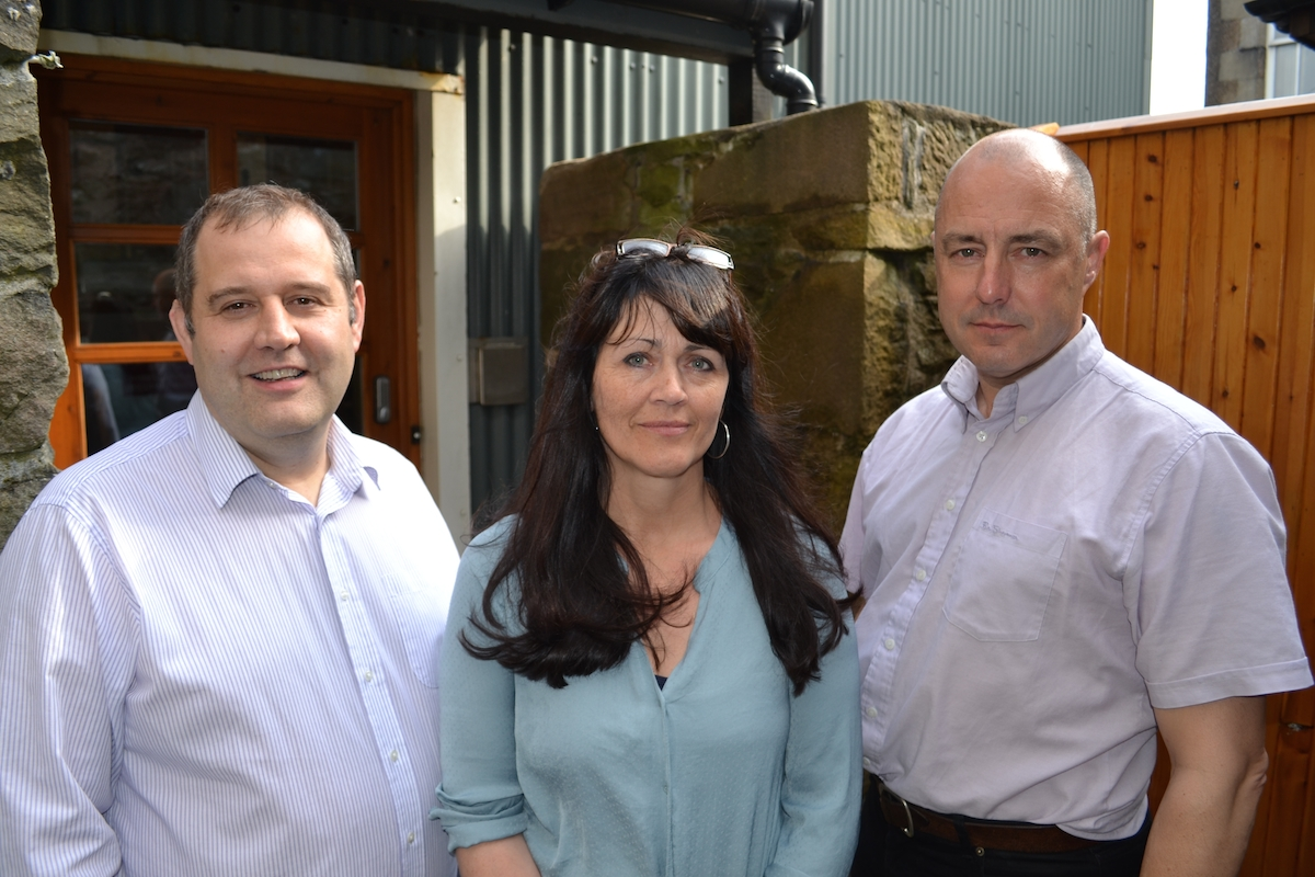The Good Morning Shetland trio (from left to right) John Johnston, Jane Moncrieff and Mike Grundon