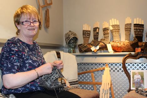 Belle Gregson: ' The organic wool has a lovely soft finish' - Photos: Hans J Marter/Shetland News