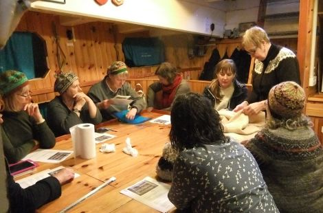 A number Shetland Wool Week workshops took place on board the Swan.
