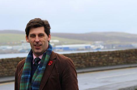 Scotland's new Tory MEP Ian Duncan in Shetland on Tuesday. Photo Shetnews