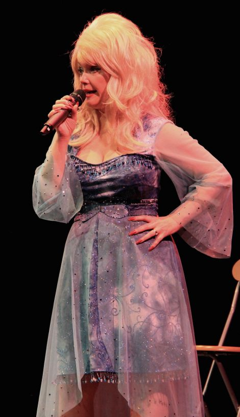 "The Dolly Parton Story arrived in Shetland with a ""mesmerising"" performance by tribute act Angela Pattison at Mareel on Saturday night. Photo Davie Gardner"