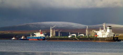 Oil prices may have plummeted, but BP is carrying out major infrastructure work at Sullom Voe.