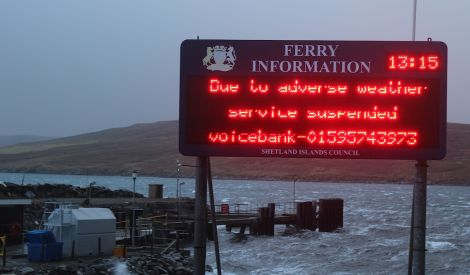 Inner island ferry services are again suspended - Photo: ShetNews