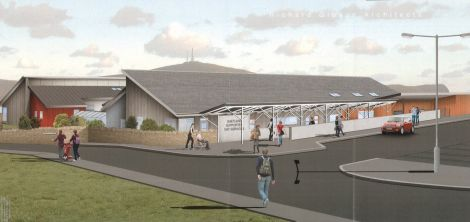 Richard Gibson Architects' photomontage of the new Eric Gray Resource Centre.