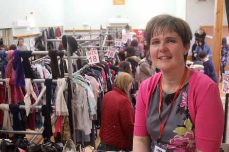Sharon Deyell: 'the swapshop is the highlight of the year for many people' - Photo: Hans J Marter/ShetNews