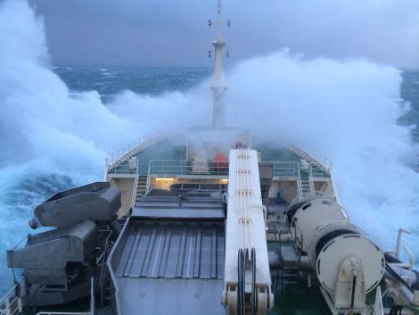 It was a stark contrast with the stormy seas encountered off Ireland. Photo: Colin Leask