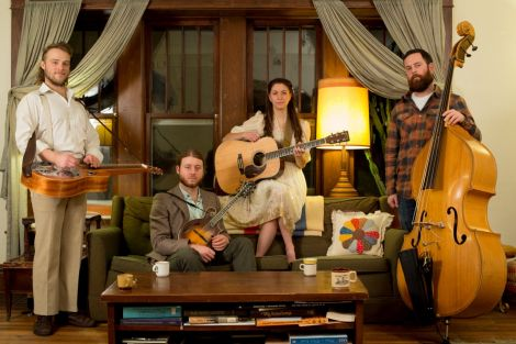 Lindsay Lou and the Flatbellys have made a mammoth journey to get their first taste of the Shetland festival.
