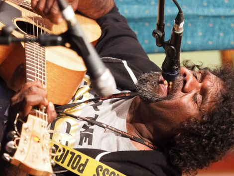 Indigenous Australian singer-songwriter Frank Yamma will be singing in his native language and in English. Photo: Chris Brown