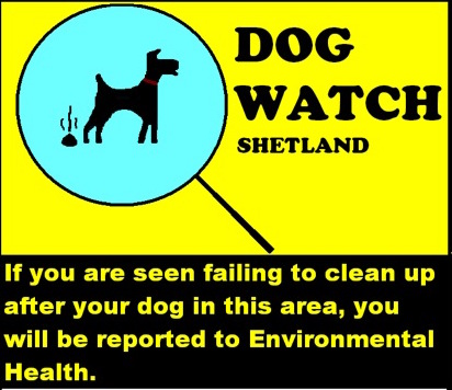 Shetland Islands Council's Dogwatch poster
