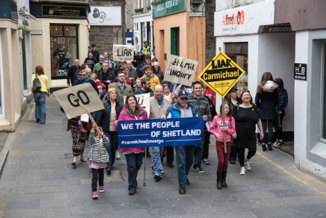 The demonstration started with a short march from the Bank of Scotland.